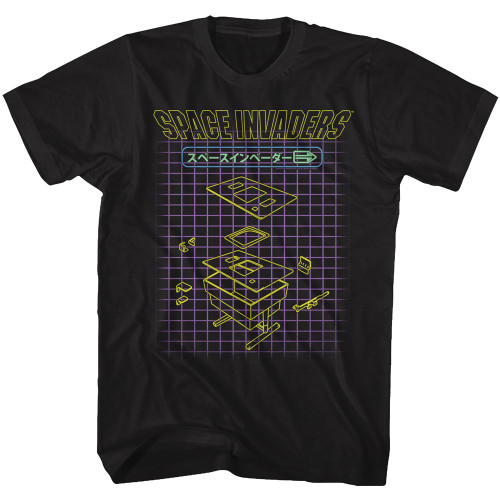 Image for Space Invaders Machine Press T-Shirt