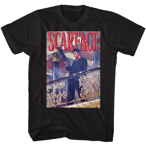 Image for Scarface T-Shirt - Railing Shot
