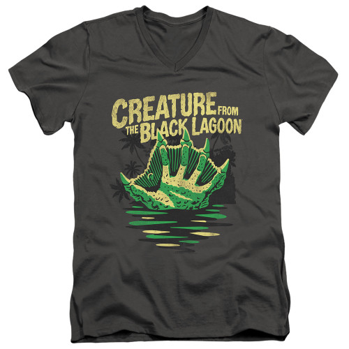 Image for The Creature From the Black Lagoon V Neck T-Shirt - Creature Breacher