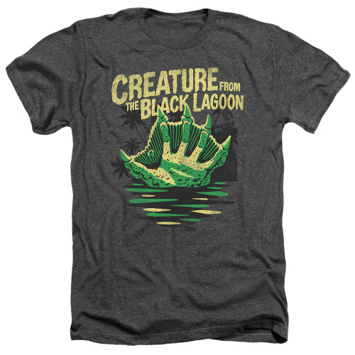 Image for The Creature From the Black Lagoon Heather T-Shirt - Creature Breacher
