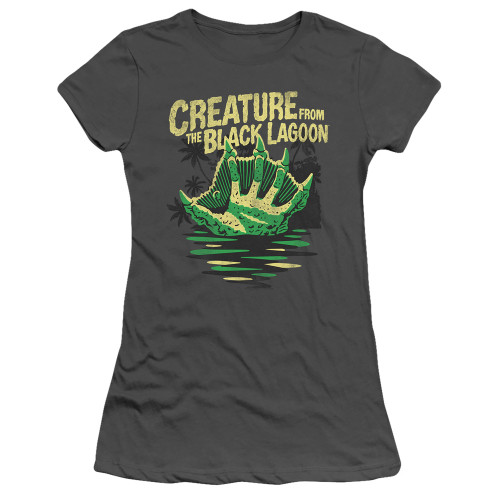 Image for The Creature From the Black Lagoon Girls T-Shirt - Creature Breacher