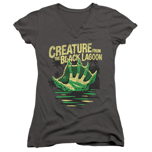 Image for The Creature From the Black Lagoon Girls V Neck - Creature Breacher
