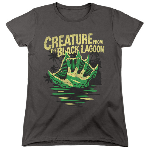 Image for The Creature From the Black Lagoon Womans T-Shirt - Creature Breacher