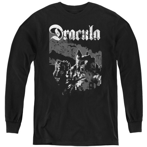 Image for Dracula Youth Long Sleeve T-Shirt - Castle