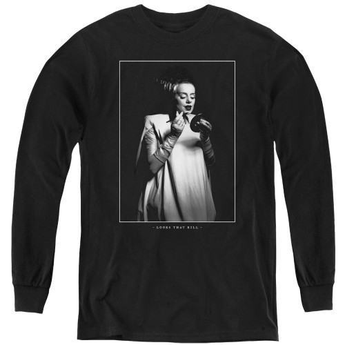 Image for Bride of Frankenstein Youth Long Sleeve T-Shirt - Looks That Kill