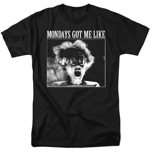 Image for Bride of Frankenstein T-Shirt - Mondays Got Me Like