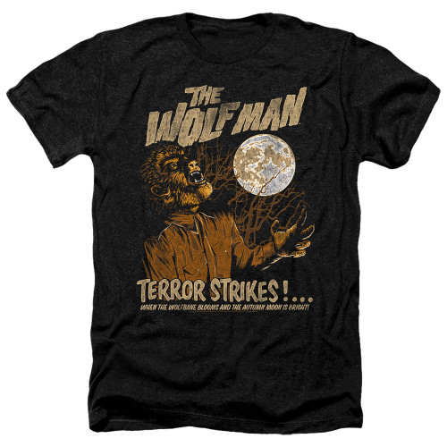Image for The Wolfman Heather T-Shirt - Terror Strikes