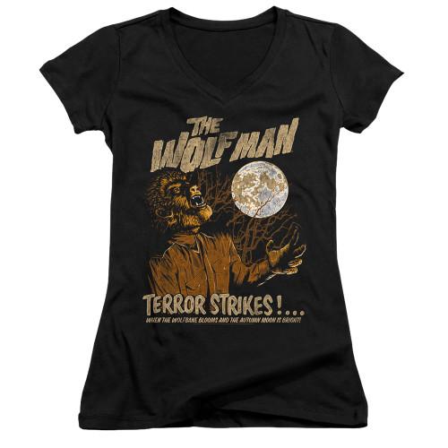 Image for The Wolfman Girls V Neck - Terror Strikes