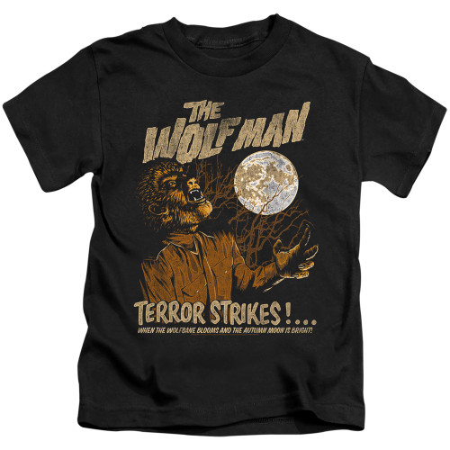 Image for The Wolfman Terror Strikes Kid's T-Shirt