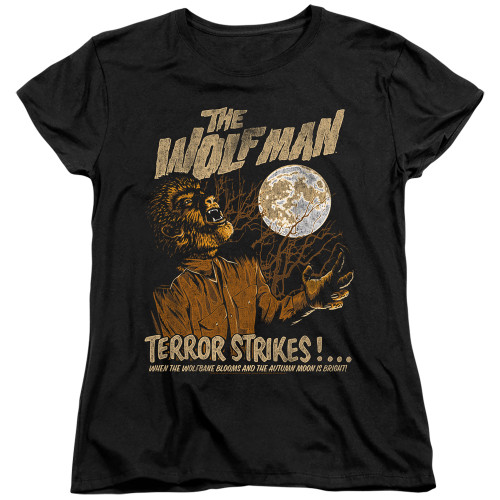 Image for The Wolfman Womans T-Shirt - Terror Strikes