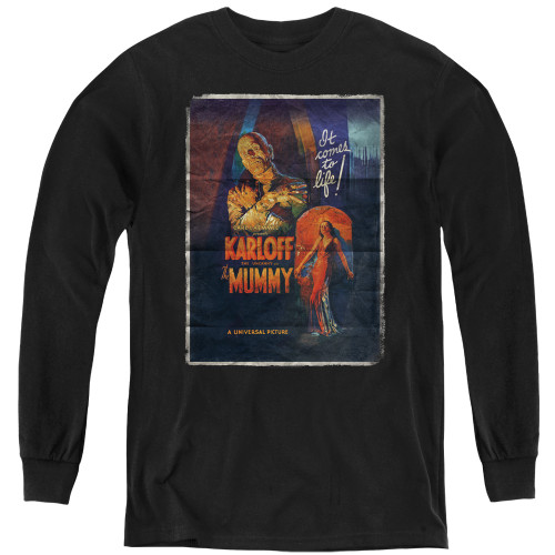 Image for The Mummy Youth Long Sleeve T-Shirt - One Sheet