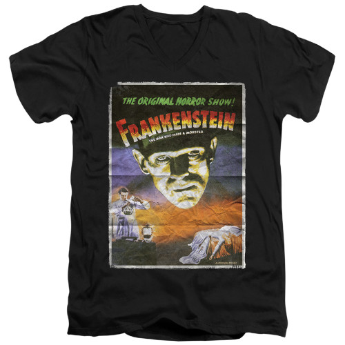 Image for Frankenstein V Neck T-Shirt - One Sheet