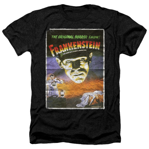 Image for Frankenstein Heather T-Shirt - One Sheet