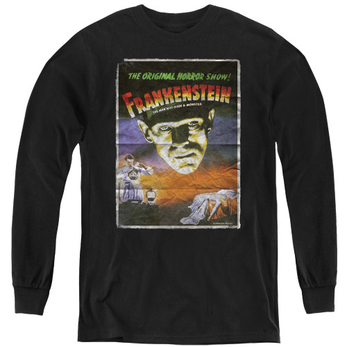 Image for Frankenstein Youth Long Sleeve T-Shirt - One Sheet