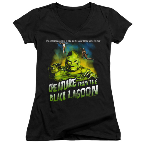 Image for The Creature From the Black Lagoon Girls V Neck - Not Since the Beginning of Time
