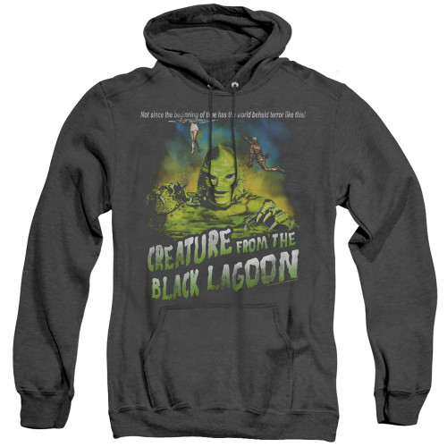 Image for The Creature From the Black Lagoon Heather Hoodie - Not Since the Beginning of Time
