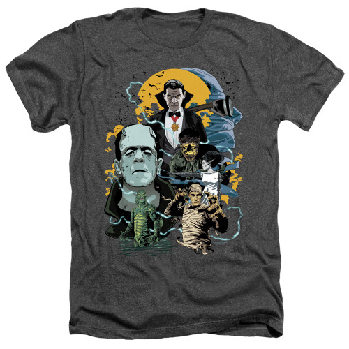 Image for Universal Monsters Heather T-Shirt - Monster Mash