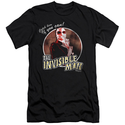 Image for The Invisible Man Premium Canvas Premium Shirt - Catch Him if You Can