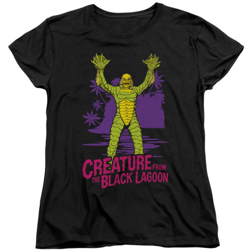 Image for The Creature From the Black Lagoon Womans T-Shirt - From Forbidden Depths