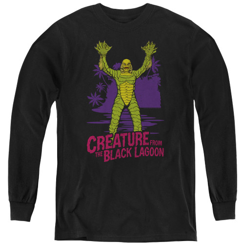 Image for The Creature From the Black Lagoon Youth Long Sleeve T-Shirt - From Forbidden Depths