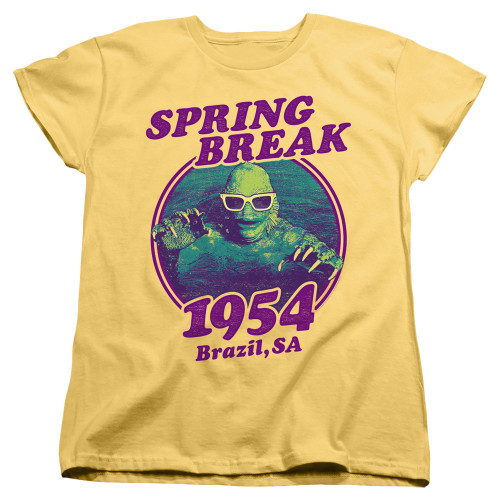 Image for The Creature From the Black Lagoon Womans T-Shirt - Spring Break