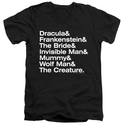 Image for Universal Monsters V Neck T-Shirt - Ampersand Monsters