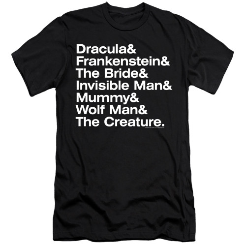 Image for Universal Monsters Premium Canvas Premium Shirt - Ampersand Monsters