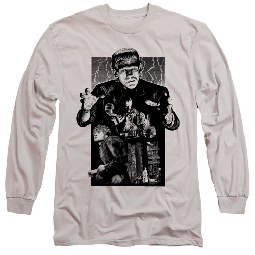 Image for Frankenstein Long Sleeve Shirt - Monoton Illustrated
