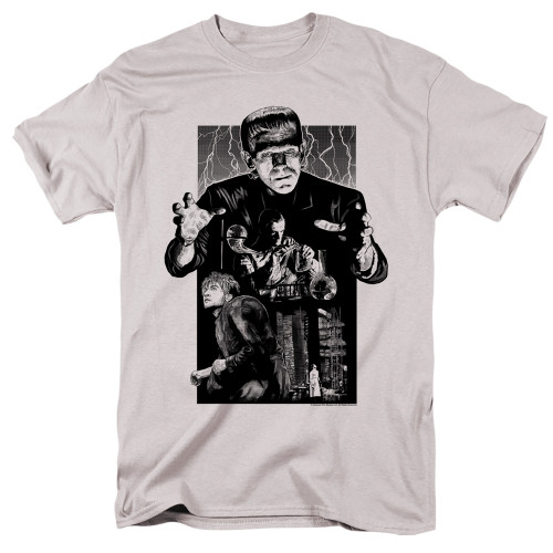 Image for Frankenstein T-Shirt - Monoton Illustrated
