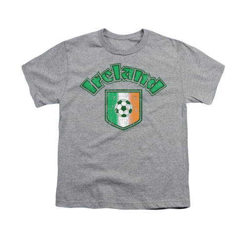 Image for Saint Patricks Day Youth T-Shirt - Irish Football Flag