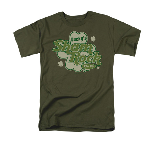 Image for Saint Patricks Day T-Shirt - Lucky Shamrock Cafe