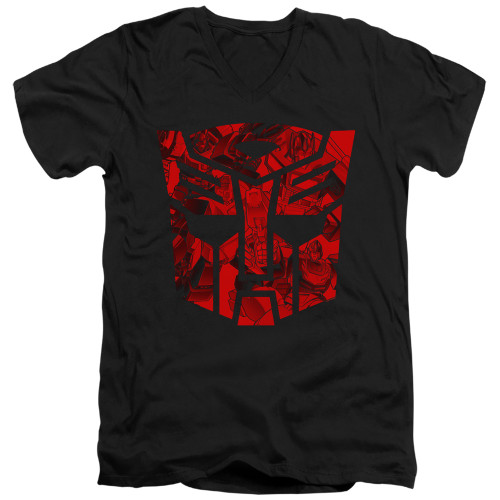 Image for Transformers T-Shirt - V Neck - Tonal Autobot