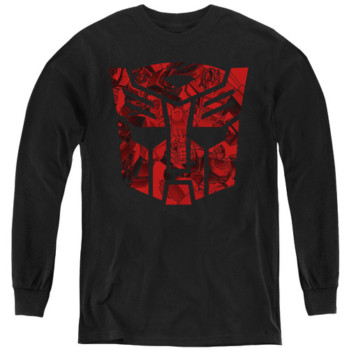 Image for Transformers Youth Long Sleeve T-Shirt - Tonal Autobot