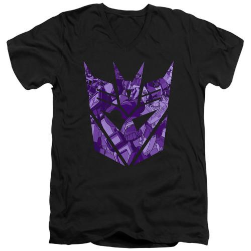 Image for Transformers T-Shirt - V Neck - Tonal Decepticon