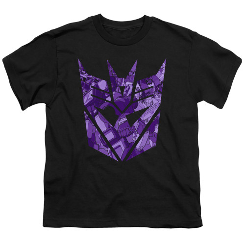Image for Transformers Youth T-Shirt - Tonal Decepticon