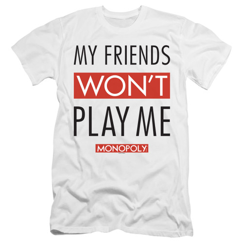Image for Monopoly Premium Canvas Premium Shirt - My Friends Won't Play With Me
