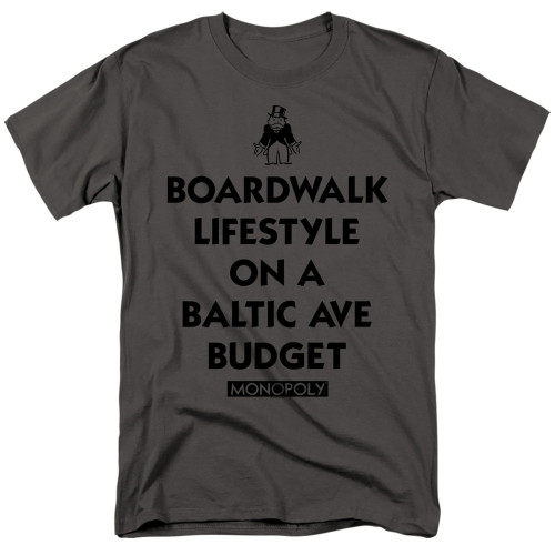Image for Monopoly T-Shirt - Lifestyle vs Budget
