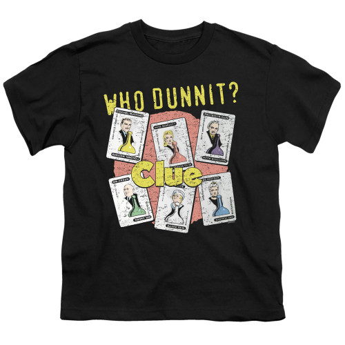 Image for Clue Youth T-Shirt - Who Dunnit
