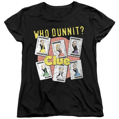 Image for Clue Woman's T-Shirt - Who Dunnit
