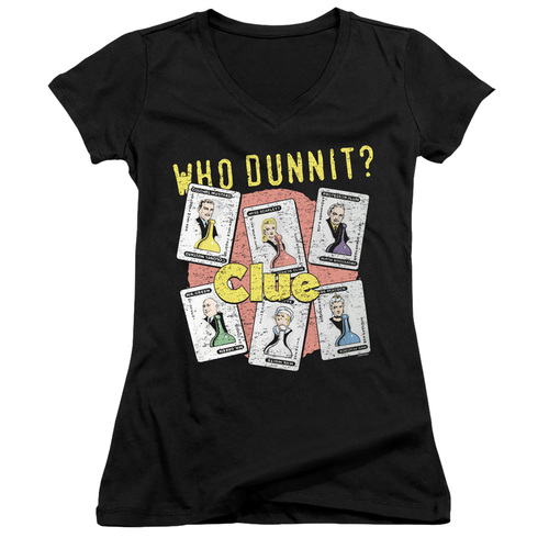 Image for Clue Girls V Neck T-Shirt - Who Dunnit