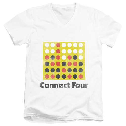Image for Connect Four T-Shirt - V Neck - Classic Logo Distressed