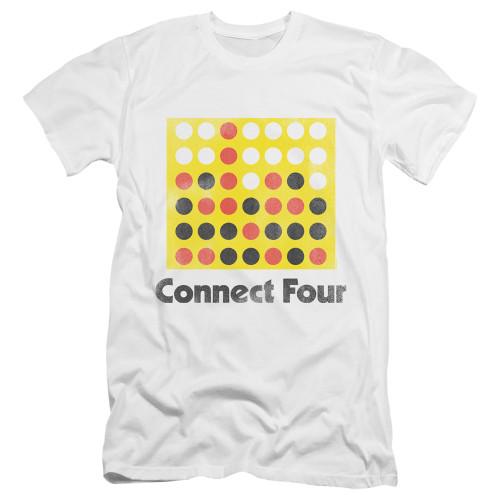 Image for Connect Four Premium Canvas Premium Shirt - Classic Logo Distressed