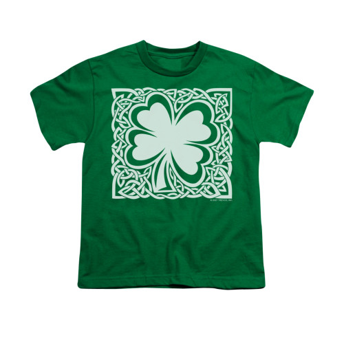 Image for Saint Patricks Day Youth T-Shirt - Celtic Clover