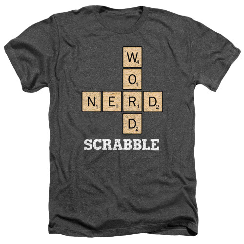 Image for Scrabble Heather T-Shirt - Word Nerd