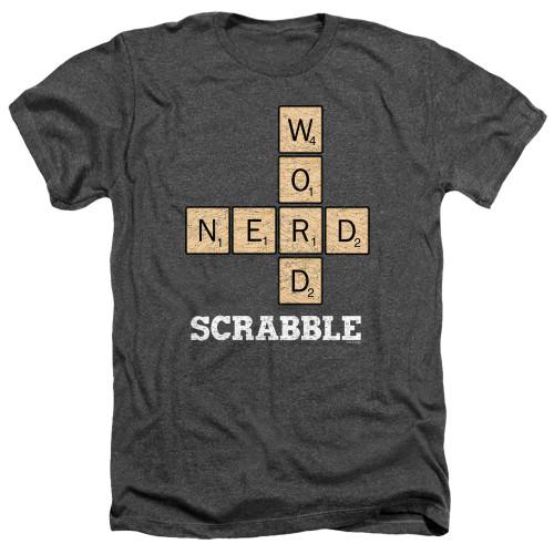 Image for Scrabble Heather T-Shirt - Word Nerd