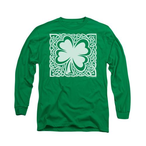 Image for Saint Patricks Day Long Sleeve T-Shirt - Celtic Clover