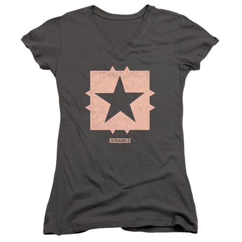 Image for Scrabble Girls V Neck T-Shirt - Free Space