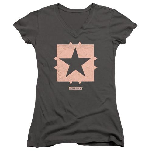 Image for Scrabble Girls V Neck T-Shirt - Free Space