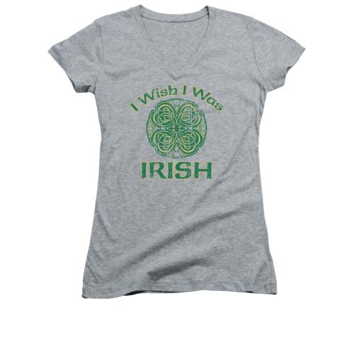 Image for Saint Patricks Day Girls V Neck T-Shirt - Irish Wish