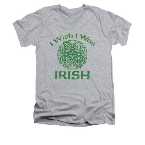 Image for Saint Patricks Day V-Neck T-Shirt Irish Wish